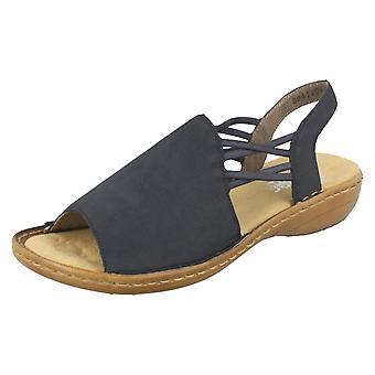 Damen Rieker Peep Toe Sandalen 608D1