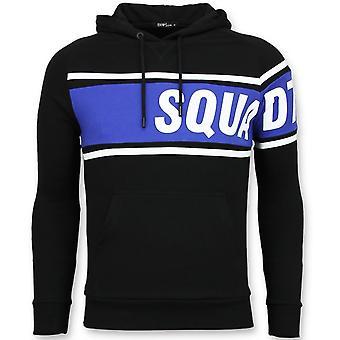 Suéter encapuzado - Capuz Preto - Azul