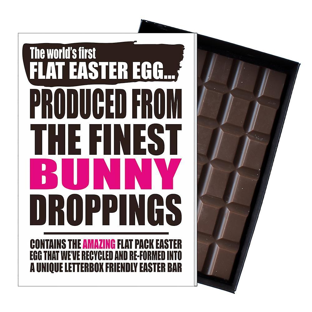 Funny Flat Easter Egg Chocolate Bar Greeting Card Bunny Gifts Men Women UK EIYF128