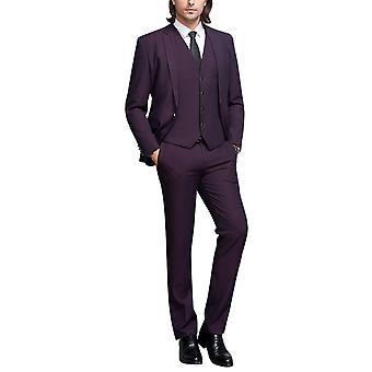 Allthemen mannen ' s suits 3-delige zakelijke feestzaal Solid suits blazer & vest & broek