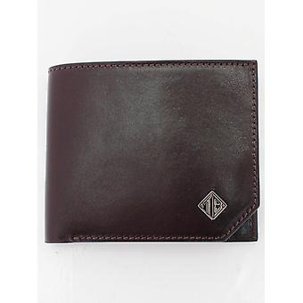 Ted Baker Farmed Bilfold Leather Wallet - Black
