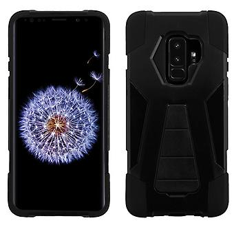 ASMYNA Black Inverse Advanced Armor Stand Protector Cover  for Galaxy S9 Plus