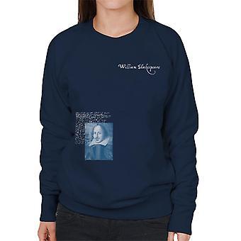 A.P.O.H Williams Shakespeare Writings Portrait Women's Sweatshirt