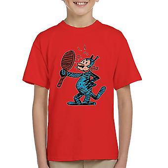Krazy Kat Mirror Blue Kid's T-Shirt