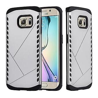 Custodia Cadorabo per Samsung Galaxy S6 EDGE - Custodia in GUARDIAN SILVER – Custodia rigida TPU Silicone Protective Case for Hybrid Cover in Outdoor Heavy Duty Design