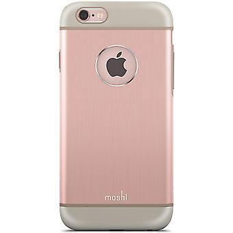 Moshi Shock Absorbing iGlaze Armour Metallic Case for iPhone 6s/6 - Rose Gold