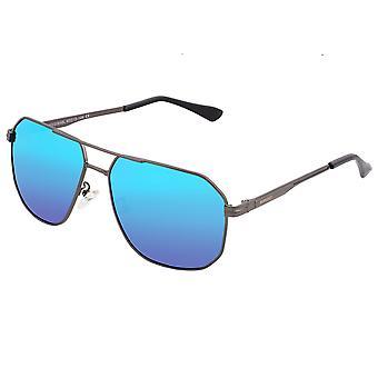 RAS Norma gepolariseerde zonnebril-Gunmetal/blauw
