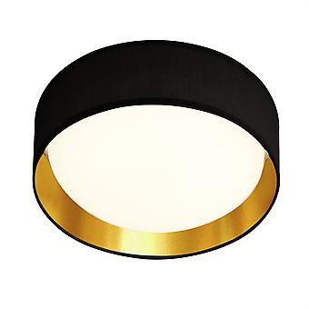 Searchlight Gianna Integrated LED 1 Light Flush Ceiling Light Black, Gold 9371-50BGO