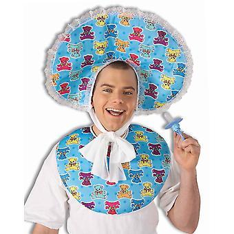 Deluxe μπλε Baby βρεφικό κουτί καπέλο μαγιό σαλιάρα αστείο άνδρες στολές