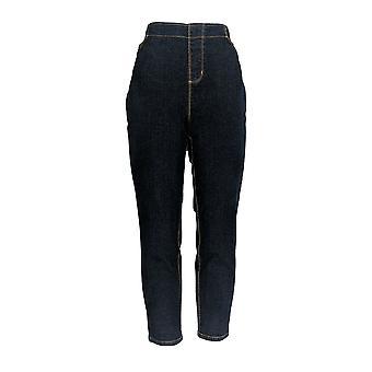 Martha Stewart Women's Petite Jeans Patchwork 5-Pocket Blue A301088