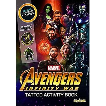 Avengers Infinity War  Tattoo Activity Book