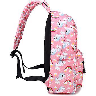 Abshoo لطيف خفيفة الوزن الأطفال المدرسية أكياس الكتب يونيكورن بنات، الوردي، حجم المتوسطة