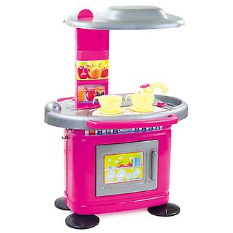 Mochtoys children's kitchen 67 cm 11085 in pink with sink and oven to open