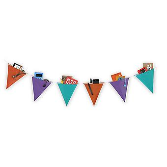 Festive Flag Storage Banner with Pockets