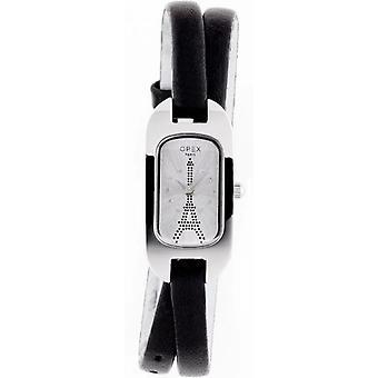 Opex OPW011 Watch - BALLERINE Black Leather Bracelet Bo Tier Steel Silver Woman