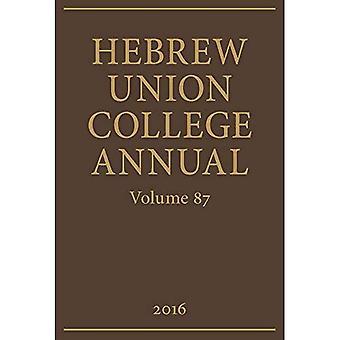 Hebrew Union College Annual: Volume 87