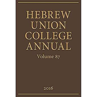 Hebrew Union College årliga: Volym 87