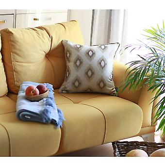 """17""""x 17"""" Brown Jacquard Chic Decorative Throw Pillow Cover"""