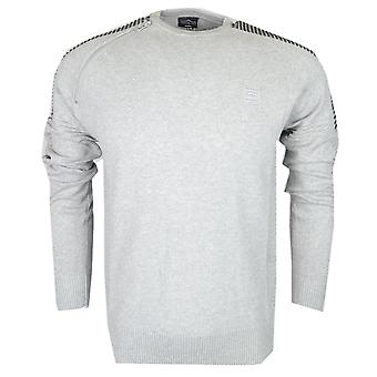 883 Police Dral Cotton Marl Grey Knitwear Jumper