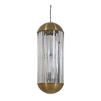 Ljus & Levande GRAYSON Hängande lampa Brons & Klar (30x70cm)