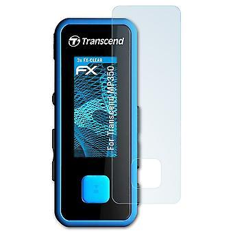 protetor de vidro atFoliX compatível com Transcend MP350 Glass Protective Film 9H Hybrid-Glass