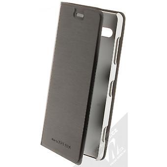 Roxfit Sony Xperia XZ2 Kompakt Slim Stående Bok Omslag Hülle Silver