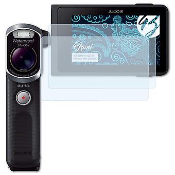 Bruni 2x Schutzfolie kompatibel mit Sony HDR-GW66VE Folie