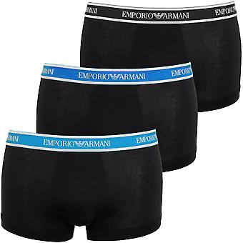 Emporio Armani 3-Pack Logoband Boxer Trunks, Navy