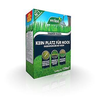 WESTLAND® No room for moss - lawn fertilizer with iron, 2.5 kg for 100 m2