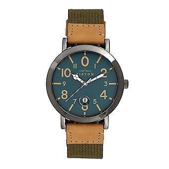 Elevon Mach 5 Canvas-Band Watch w/Date - Green