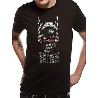 Batman Adultes Unisex Text Skull Design T-Shirt