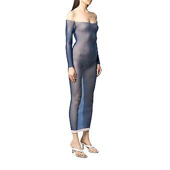 Jacquemus 201kn4220149380 Women's Blue Viscose Dress