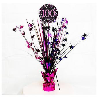 Amscan Kuohuviini vaaleanpunainen juhla 100vuotta keskipiste spray