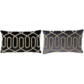 Riva Home Chrysler Perlen geometrische rechteckige Kissentasche