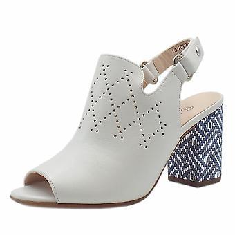 Peter Kaiser Andira Stylish Block Heel Sling-back Sandals In White