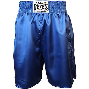 Cleto Reyes Satin Classic Boxing Trunks - Blue