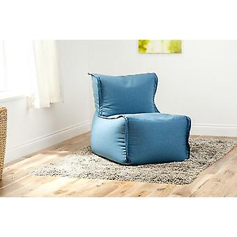 Fun!ture Zip Together Bean Bag Lounger   Great for Sitting living Room   Home Sofa Seat Chair Furniture   Soft and Comfortable (Marine)