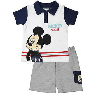 Disney mickey baby boy outfit set short sleeve