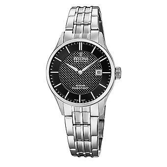 Festina Swiss F20006-4 Swiss Made Women's Black Dial Wristwatch