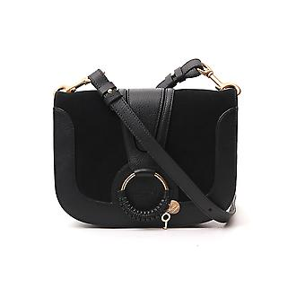 See By Chloé Chs18as897417001 Women's Black Leather Shoulder Bag