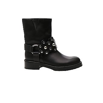Vermelho Valentino Sq2s0c55lmt0no Women's Black Leather Boots