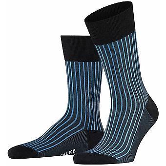 Falke Oxford Neon Socks - Antracit Melange/Blå