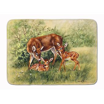 Deer by Daphne Baxter Machine Washable Memory Foam Mat