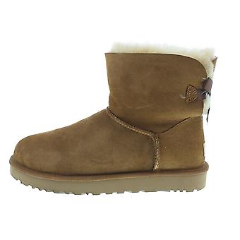 UGG Mini Bailey Bow II 1016501CHESTNUT chaussures universelles pour femmes d'hiver