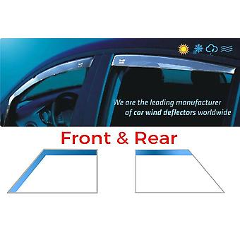 Front And Rear Heko Wind Deflectors For Audi A4 Avant 2008-2015