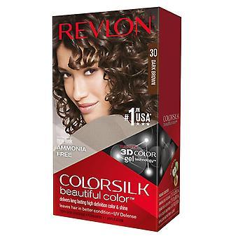 Revlon colorsilk kit di colore di capelli, #30 marrone scuro, 1 ea