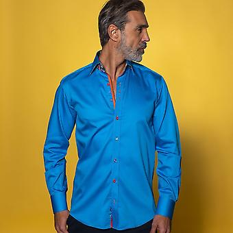 CLAUDIO LUGLI Classic Shirt With Vibrant Marble Insert