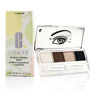 Clinique All About Shadow Quad - # 14 Skinny Dip - 4x1.2g/0.04oz