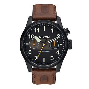 Nixon Safari Deluxe läder svart / Lum / brun (A9772344)