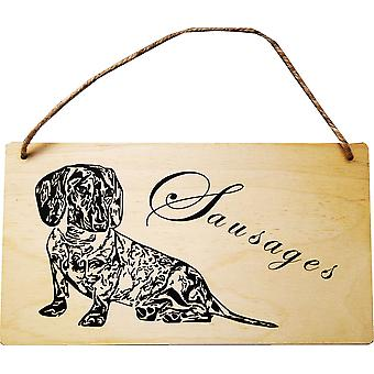 Dachshund Sausages Wall Plaque by Lilypond Crafts
